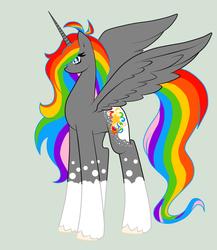 Size: 900x1035   Tagged: safe, artist:rainbowscreen, oc, oc only, oc:rainbow star, alicorn, pony, alicorn oc