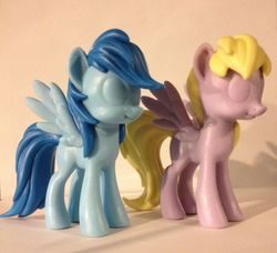 Size: 1023x935 | Tagged: safe, derpy hooves, rainbow dash, pegasus, pony, female, figure, funko, irl, mare, official, photo, prototype, toy