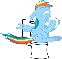 Size: 800x766 | Tagged: safe, edit, rainbow dash, but why, constipated, my life is ruined, toilet
