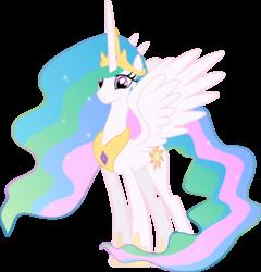 Size: 3830x3996 | Tagged: safe, artist:felix-kot, princess celestia, alicorn, pony, female, mare, simple background, solo, transparent background, vector
