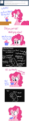 Size: 651x2685   Tagged: safe, artist:bambooharvester, pinkie pie, ask, cupcake, pinkie pie replies, scrunchy face, tumblr
