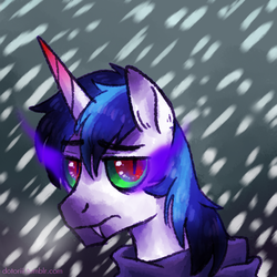 Size: 700x700 | Tagged: king sombra, possession, safe, shining armor