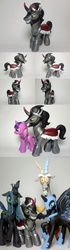 Size: 800x2867 | Tagged: artist:oak23, brushable, custom, discord, king sombra, nightmare moon, photo, queen chrysalis, safe, spoiler:s03, the crystal empire, toy, twilight sparkle