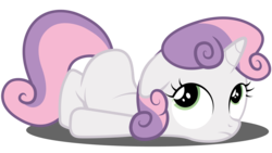 Size: 8192x4608 | Tagged: artist:techrainbow, safe, simple background, solo, sweetie belle, transparent background, vector