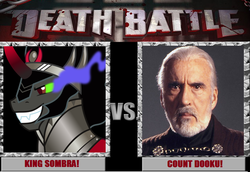 Size: 897x617 | Tagged: christopher lee, commentary, count dooku, death battle, king sombra, meta, safe, spoiler:s03, star wars
