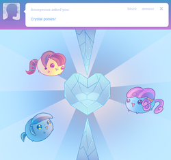 Size: 645x606 | Tagged: safe, artist:pekou, crystal pony, pony, ask my little chubbies, the crystal empire, chubbie, crystal heart