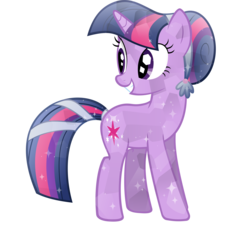 Size: 5999x5447 | Tagged: safe, artist:sairoch, twilight sparkle, crystal pony, pony, the crystal empire, absurd resolution, alternate hairstyle, crystal, crystal twilight, crystallized, simple background, solo, transparent background, vector