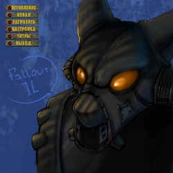 Size: 1000x1000   Tagged: safe, artist:limreiart, advanced power armor, armor, enclave, fallout, fallout 2, ponified, power armor, powered exoskeleton, russian, solo