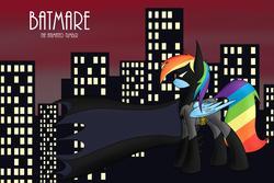 Size: 3000x2000   Tagged: safe, rainbow dash, batman, batman the animated series, crossover, parody