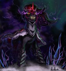 Size: 3984x4320   Tagged: safe, artist:virus-91, king sombra, dark crystal, evil grin, grin, solo