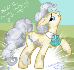 Size: 500x473   Tagged: safe, artist:naomiknight17, mayor mare, 30 minute art challenge, crystallized, glasses