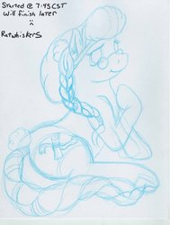 Size: 500x662   Tagged: safe, artist:ratwhiskers, mayor mare, 30 minute art challenge, crystallized, glasses, wip