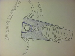 Size: 2592x1936 | Tagged: safe, twilight sparkle, borderlands, claptrap, crossover, stairs, traditional art