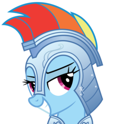 Size: 5000x5000 | Tagged: safe, artist:rainbowderp98, rainbow dash, .ai available, .svg available, absurd resolution, armor, bedroom eyes, bust, crystal guard armor, female, portrait, simple background, smug, solo, transparent background, vector
