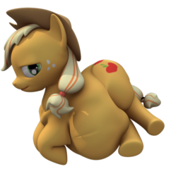 Size: 529x547 | Tagged: 3d, applebutt, applefat, applejack, artist:eggo81194, bedroom eyes, belly, cg, chubby, fat, freckles, gmod, hat, safe