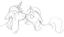 Size: 1782x1043 | Tagged: safe, artist:enigmaticfrustration, prince blueblood, trixie, bluetrix, female, male, shipping, straight