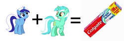 Size: 600x200   Tagged: safe, lyra heartstrings, minuette, secret paste fun, toothpaste