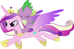 Size: 8192x5432 | Tagged: artist:rainbownspeedash, princess cadance, safe, simple background, spike, the crystal empire, transparent background, vector
