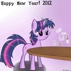 Size: 1800x1800 | Tagged: dead source, safe, artist:acceleron, twilight sparkle, unicorn, 2012, alcohol, bloodshot eyes, cracking, egg, female, frown, hangover, happy new year, holiday, mare, messy mane, new year, pepper, salt, salt and pepper shakers, solo, tabasco, tired, unamused, worcestershire sauce