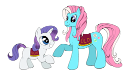 Size: 1200x753 | Tagged: artist:ambrosebuttercrust, g3, g3 to g4, generation leap, minty, rarity, safe
