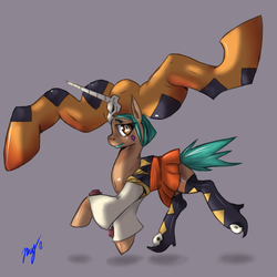 Size: 1200x1200 | Tagged: artist:damaximos, artist:maximos, cerebella, ponified, safe, simple background, skullgirls, solo, vice-versa