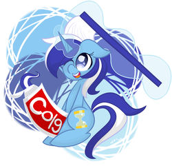 Size: 1280x1251   Tagged: safe, artist:fruttistdar, minuette, pony, unicorn, brushie, cute, female, floppy ears, looking up, mare, minubetes, one eye closed, solo, toothbrush, toothpaste