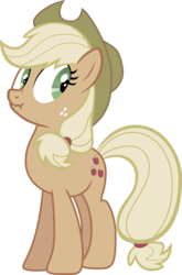 Size: 2500x3796 | Tagged: safe, artist:felix-kot, applejack, earth pony, pony, female, liar face, liarjack, mare, simple background, solo, transparent background, vector