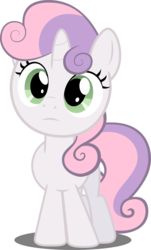 Size: 2344x3887 | Tagged: safe, artist:felix-kot, sweetie belle, pony, unicorn, confused, female, filly, simple background, solo, transparent background, vector