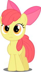 Size: 2205x3876 | Tagged: safe, artist:felix-kot, apple bloom, earth pony, pony, confused, female, simple background, solo, transparent background, vector