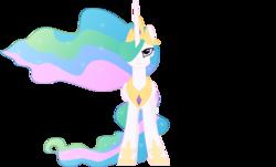 Size: 6727x4073 | Tagged: safe, artist:felix-kot, princess celestia, alicorn, pony, absurd resolution, female, mare, simple background, solo, transparent background, vector