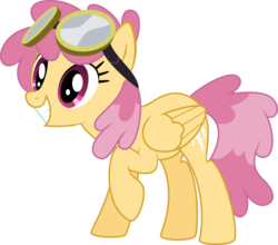 Size: 900x793 | Tagged: artist:silvervectors, background pony, dizzy twister, female, goggles, mare, orange swirl, pegasus, pony, safe, simple background, solo, transparent background, vector