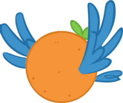 Size: 374x314 | Tagged: safe, artist:iloveportalz0r, orange bird, too many pinkie pies, .svg available, orangified, simple background, solo, svg, transparent background, vector