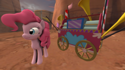 Size: 640x360 | Tagged: safe, artist:chaotrix, pinkie pie, 3d, animated, creepy, scary, source filmmaker, spooky