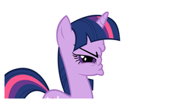 Size: 1322x750   Tagged: safe, twilight sparkle, scrunchy face, simple background, vector, wat, white background