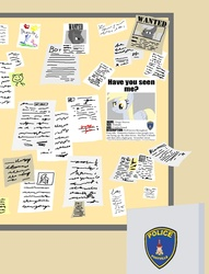 Size: 946x1240   Tagged: safe, artist:ajmstudios, derpy hooves, pegasus, pony, bulletin board, female, have you seen derpy, mare, missing, poster, scrunchy face, wanted, wanted poster