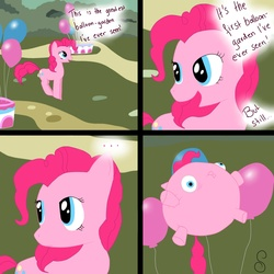 Size: 1500x1500 | Tagged: artist:sunsetx3, balloon, balloonie pony, comic, original species, pinkie pie, safe