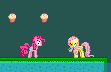 Size: 225x147 | Tagged: artist:certaintyprinciple, flash, fluttershy, pinkie pie, safe
