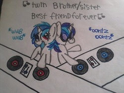 Size: 500x375 | Tagged: ask the teenage ponies, dj pon-3, safe, shining armor, tumblr, vinyl scratch