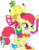 Size: 3121x3996 | Tagged: safe, artist:bobthelurker, apple bloom, earth pony, pony, one bad apple, accesories, adorabloom, banana, clothes, costume, cute, female, filly, food, grapes, necktie, orange, pineapple, simple background, snorkel, transparent background, vector, watch, wristwatch