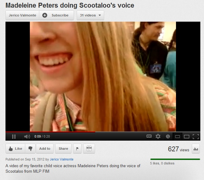 162531 Madeleine Peters Safe Scootaloo Youtube Derpibooru I think the voice sounds deeper because the voice actress gets older. derpibooru