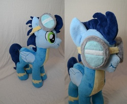 Size: 1000x821   Tagged: safe, artist:makeshiftwings30, soarin', goggles, irl, photo, plushie, scrunchy face, solo