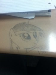 Size: 720x960 | Tagged: cute, desk, drawing, filly, safe