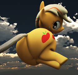 Size: 519x498 | Tagged: 3d, applebutt, applejack, artist:eggo81194, cg, chubby, fat, gmod, impossibly large ass, plot, safe, the ass was fat