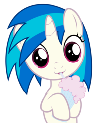 Size: 6000x7155   Tagged: safe, artist:drpancakees, dj pon-3, vinyl scratch, pony, unicorn, :3, absurd resolution, cute, female, filly, foal, hooves, horn, looking at you, milkshake, milkshake ponies, simple background, solo, transparent background, vector