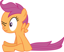 Size: 9299x7469   Tagged: safe, artist:deadparrot22, scootaloo, absurd resolution, scrunchy face, simple background, solo, transparent background, vector