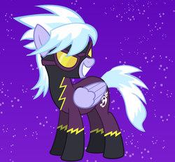 Size: 900x831 | Tagged: dead source, safe, artist:undeadhyena115, cloudchaser, clothes, costume, goggles, grin, shadowbolts, shadowbolts costume, smiling