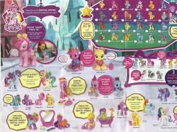 Size: 3175x2359 | Tagged: safe, amethyst star, apple bloom, apple sprout, applejack, berry green, caramel, chance-a-lot, cherry spices, cottonbelle, crimson gala, diamond tiara, electric sky, fluttershy, hoity toity, lotus blossom, magnet bolt, merry may, minuette, mosely orange, peachy sweet, photo finish, pinkie pie, princess cadance, princess celestia, princess luna, princess skyla, rainbow dash, rarity, red gala, roseluck, royal riff, sassaflash, shoeshine, trixie, twilight sky, twilight sparkle, twilight velvet, uncle orange, zecora, bird, dog, human, pony, turtle, zebra, the crystal empire, spoiler:s03, apple family, apple family member, bath, blind bag, brochure, crystal empire, diamond dazzle tiara, hasbro, irl, mirror, official, photo, puppy, toy