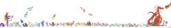 Size: 10000x1653 | Tagged: safe, artist:fishburger, ace point, aloe, angel bunny, apple bloom, apple fritter, apple honey, apple tarty, applejack, aunt orange, basil, beauty brass, big macintosh, blaze, bon bon, braeburn, candy mane, carrot cake, carrot top, cheerilee, chief thunderhooves, cloudy quartz, crafty crate, cup cake, daisy, derpy hooves, descent, diamond tiara, dinky hooves, dj pon-3, doctor whooves, dumbbell, elsie, fancypants, fido, fleur-de-lis, flower wishes, fluttershy, frederic horseshoepin, gilda, golden harvest, granny smith, gummy, hoity toity, hoops, hummingway, igneous rock pie, lemon hearts, lightning bolt, lily, lily valley, limestone pie, little strongheart, lotus blossom, lyra heartstrings, manny roar, marble pie, misty fly, morton saltworthy, mosely orange, mr breezy, mr. greenhooves, night light, nightmare moon, nightshade, octavia melody, ol' salt, opalescence, owlowiscious, parish nandermane, peachy pie, philomena, photo finish, pinkie pie, play write, powder rouge, pretty vision, prince blueblood, princess celestia, princess luna, quarterback, rainbow dash, rarity, red delicious, red gala, roseluck, rover, roxie, roxie rave, sapphire shores, savoir fare, scootaloo, sharpener, sheriff silverstar, silver spoon, snails, snips, soarin', soigne folio, spike, spitfire, spot, stella lashes, steven magnet, sunny daze, sunshower raindrops, surprise, sweetie belle, sweetie drops, time turner, trixie, twilight sky, twilight sparkle, twilight velvet, twist, uncle orange, vidala swoon, vinyl scratch, white lightning, wild fire, winona, oc, oc:fausticorn, alicorn, buffalo, chicken, cockatrice, diamond dog, donkey, dragon, griffon, hydra, manticore, parasprite, pegasus, phoenix, pony, season 1, absurd resolution, apple family, apple family member, cello, clothes, costume, cutie mark crusaders, everypony, fancyfleur, female, filly, flower trio, horte cuisine, lauren faust, male, mane seven, mane six, mare, muffin, multiple heads, musical instrument, n