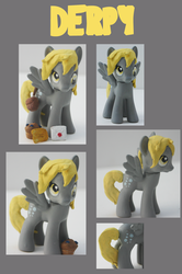 Size: 846x1275 | Tagged: artist:alltheapples, brushable, custom, derpy hooves, letter, muffin, photo, pony, safe, solo, toy