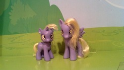 Size: 798x450 | Tagged: artist:fields4mint, brushable, custom, derpy hooves, dinky hooves, photo, pony, safe, toy